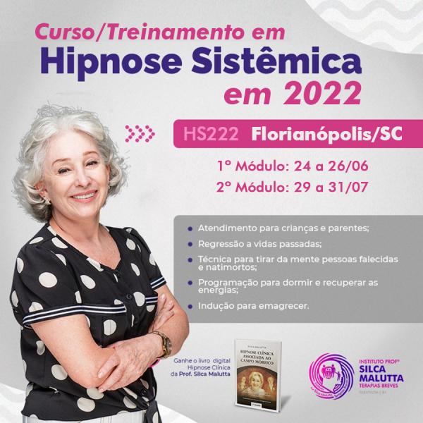 HS222 - Curso/Treinamento em Hipnose Sistêmica - Florianópolis/SC